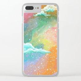 Pastel Rainbow Sky Clear iPhone Case