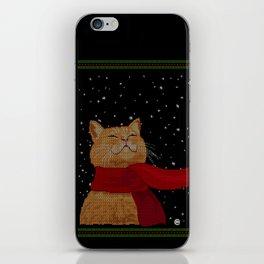 Knitted Wintercat iPhone Skin