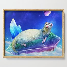 Ferret in the Sky with Crystals Serving Tray
