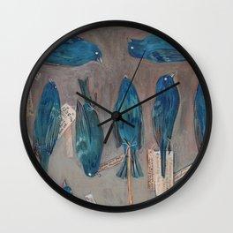 Indigo Buntings Bird Specimens Wall Clock