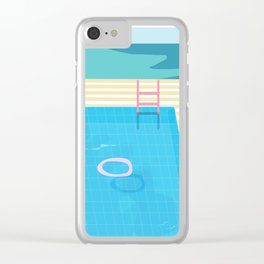 Swimming Pool Sessions Clear iPhone Case