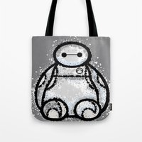 baymax Tote Bags featuring Baymax by grapeloverarts