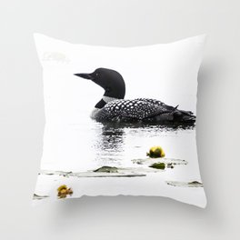 June Loon Throw Pillow