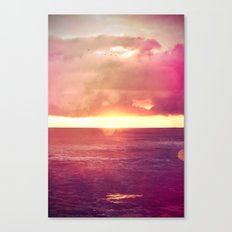 Ocean Sunset Bokeh Canvas Print
