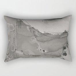 Abstract Watercolor b/w Rectangular Pillow