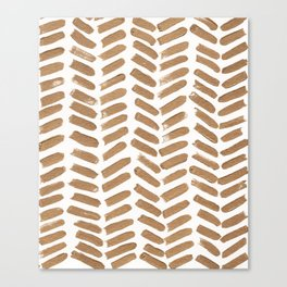 Gold Chevron Canvas Print