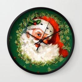 Jolly Ole Santa Pixel Wall Clock