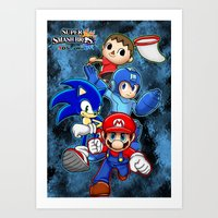 super smash bros Art Prints featuring Super Smash Bros  by Blaze-chan