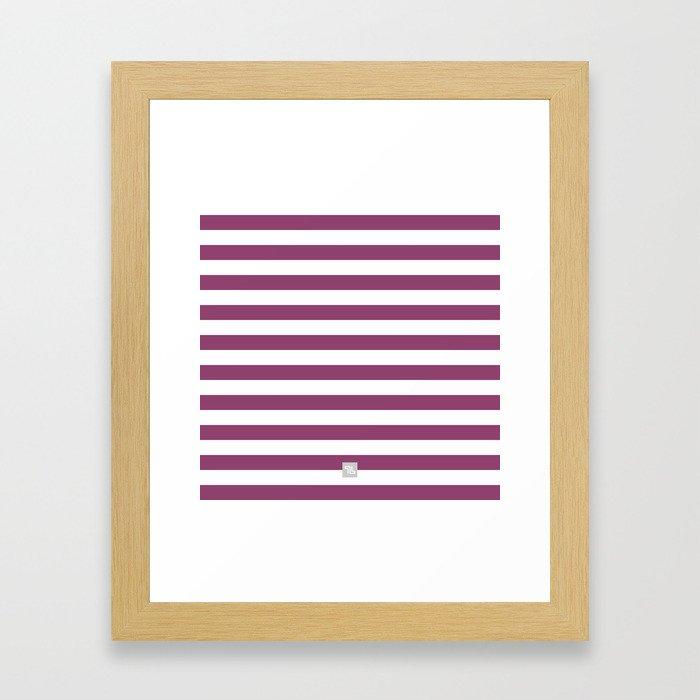 Havana Stripe Berry Framed Art Print
