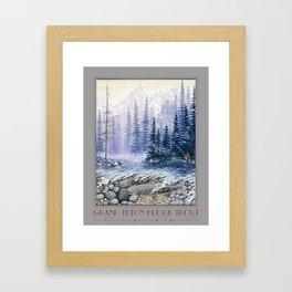 Grand Teton Brook Trout Framed Art Print