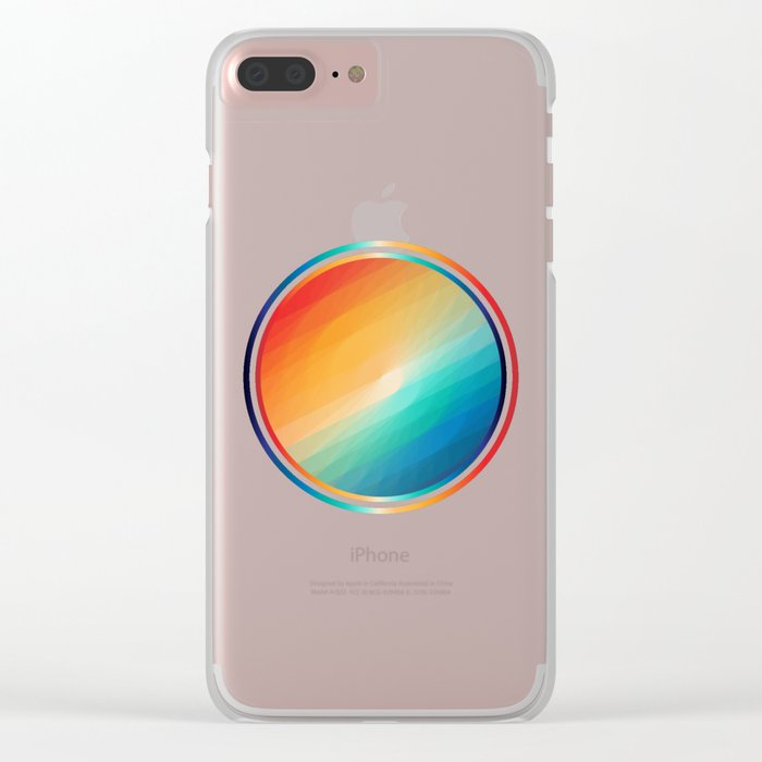 Rainbow circle Clear iPhone Case