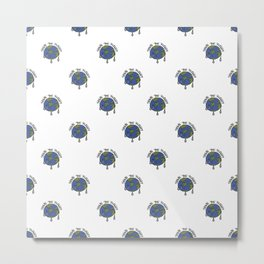 Save The Planet Concept Pattern Metal Print