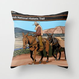 Vintage Poster - Old Spanish National Historic Trail (2018) Throw Pillow
