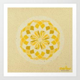 Solar Plexus Chakra Mandala Art Print