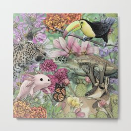 Flora and Fauna of Mexico Metal Print