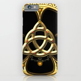 Decorative celtic knot iPhone Case