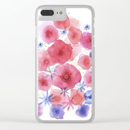 Caramel flowers Clear iPhone Case