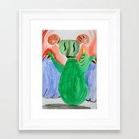 nan lawson Framed Art Prints featuring Elizabeth Lawson by NLC Art Club