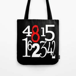 Lost Numbers in Black Tote Bag