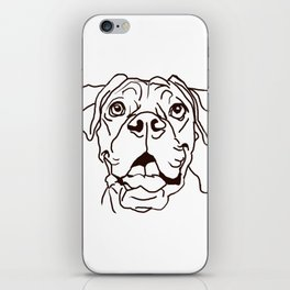 The Boxer Dog Love of my Life iPhone Skin