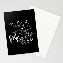 White Birds Stationery Cards