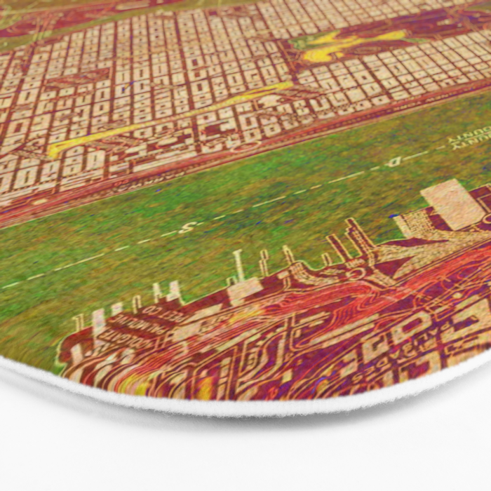 Central Park New York, old map, vintage old map, mapa antiguo, american map Bath Mat