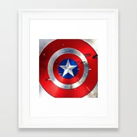 shield Framed Art Prints featuring SHIELD by Smart Friend