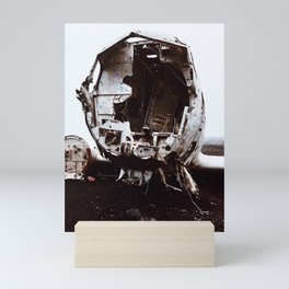 Icelandic Plane Wreck (Space Walk Series no.2) Mini Art Print