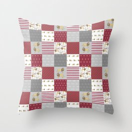 Lion House cheater quilt patchwork wizarding witches and wizards Throw Pillow
