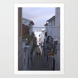 Calle Mejor, Altea, Costa Blanca, Spain. Art Print