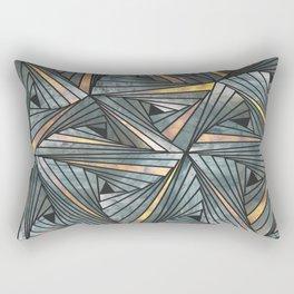 Mesh (Grey and Copper) Rectangular Pillow