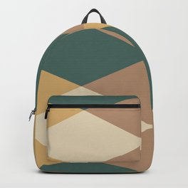 Mid Century Modern Geometric Pattern 437 Backpack
