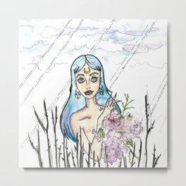 Freaky Flower girl Metal Print