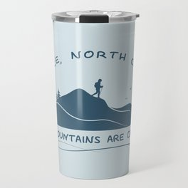 Asheville - The Mountains Are Calling - AVL 10 Greyblue Travel Mug