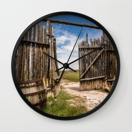 Historic Fort Bridger Gate - Wyoming Wall Clock