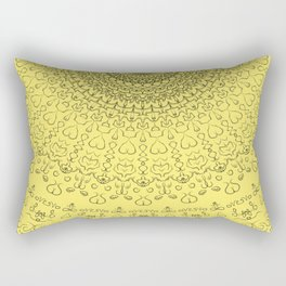Love Life Mandala Rectangular Pillow