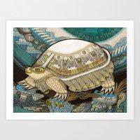 turtle Art Prints featuring Turtle by Yuliya