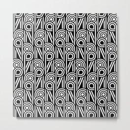 Art Deco Black and White Metal Print