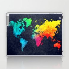 World map watercolor 6 Laptop & iPad Skin