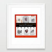 free shipping Framed Art Prints featuring FREE SHIPPING by Vermont Greetings