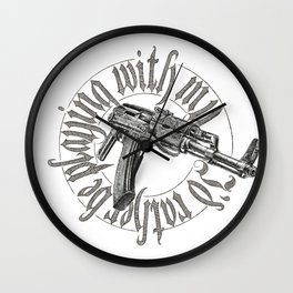 I'd rather be playing with me Wall Clock