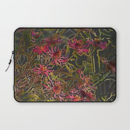 Zinnia Pink Abstract by CheyAnne Sexton Laptop Sleeve