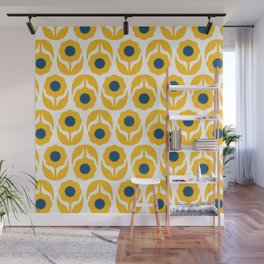 Joy collection- Yellow flowers Wall Mural