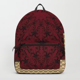 Mandala in red grená Backpack