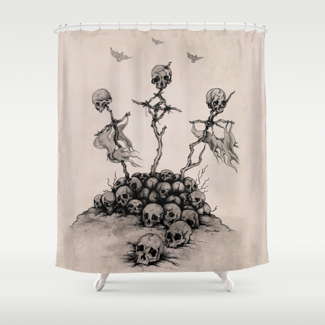 Jolly roger shower curtain - Jolly Roger Shower Curtain