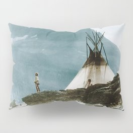 Echoes Call - American Indian Camp Pillow Sham