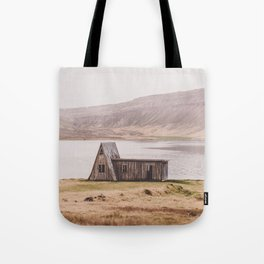 Abandoned Wooden Hut in the Westfjords of Iceland Tote Bag