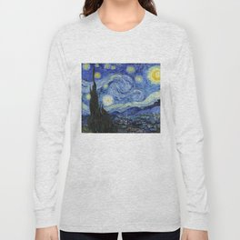 Starry Night by Vincent Van Gogh Long Sleeve T-shirt