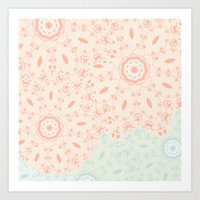 lace Art Prints featuring Lace by LindsayMichelle