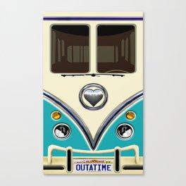 Blue teal minibus lovebug iPhone 4 4s 5 5c 6 7, pillow case, mugs and tshirt Canvas Print